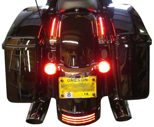 Motorcycle Strut Cover LED Turn Signal Light Kit
