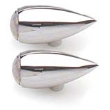 Chrome Billet Teardrop Running/Brake/Turn Signals