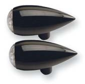 Gloss Black Billet Teardrop Running/Brake/Turn Signals