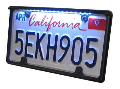 LED car plate frame
