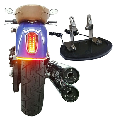 Dual color Indian motorcycles Scout under fender light