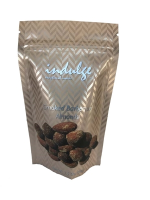Smoked BBQ Almonds In Resealable Snack Pouch 3.5 oz.