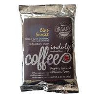Blue Sunset Medium Roast Ground Organic Coffee - Single Pot Pack