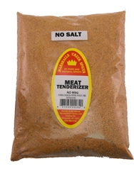 Family Size Refill Marshalls Creek Spices Seasoned Meat Tenderizer No Salt Seasoning, 44 Ounce