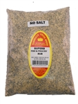 Family Size Refill Marshalls Creek Spices Superb Fish and Poultry No Salt Seasoning, 44 Ounce