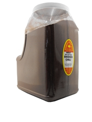 SMOKED SWEET SAN ANTONIO CHILI BLEND 6 LB RESTAURANT SIZE JUG
