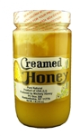RAW WILDFLOWER CREAMED HONEY 16 OZ GLASS JAR