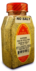 SUPERB FISH AND POULTRY RUB NO SALTⓀ