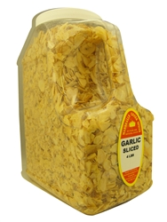 GARLIC SLICED 4 LB. RESTAURANT SIZE JUGⓀ