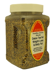 "Detox Tea for Weight Loss and Belly Fat â""€, 12 oz pinch grip jar"