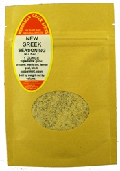 "Sample  NEW GREEK SEASONING, NO SALT (with mint & onion)â""€"