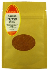 "Sample GARLIC PEPPER BLEND NO SALTâ""€"