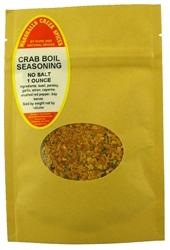 "Sample, CRAB BOIL SEASONING NO SALTâ""€"