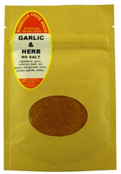 "Sample, GARLIC AND HERB SEASONING NO SALTâ""€"