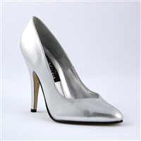 Smooth Silver Patent Leather Womens Pump