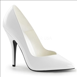 Smooth White Patent Leather Womens Pump