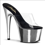 Silver Exotic Dance Shoe With A 7 Inch Heel