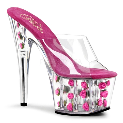 Hot Pink Roses Adorable Exotic Entertainer Shoe