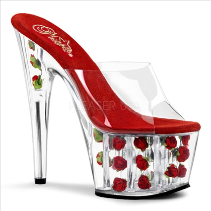 Red Roses Platform Amorous Exotic Dancer Shoe