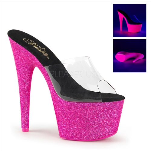 Hot Pink Uv Reactive Sexy Exotic Dance Heels