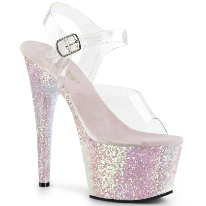 Opal Glitter Ankle Strap Exotic Dance Shoe