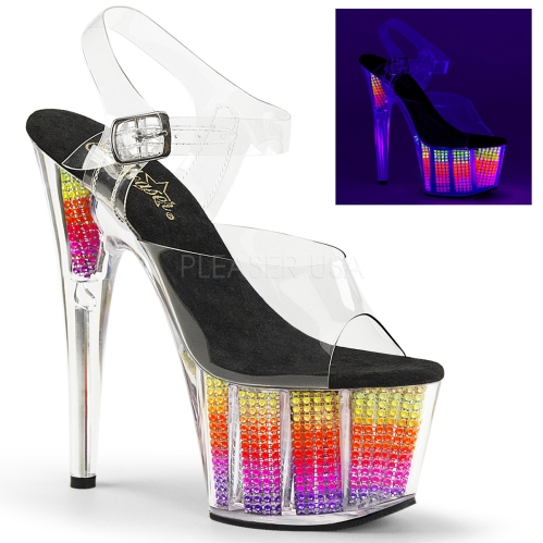 Multi Color Neon Black Light Reactive Dance Shoes