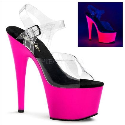 Uv Hot Pink Stiletto Exotic Stripper Shoes