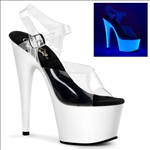 Neon White Uv Exotic Strip Clubs Shoes