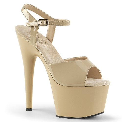Cream Color Affordable Exotic Stripper Shoe