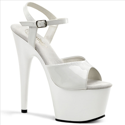 Popular White Patent Leather Stripper Shoe