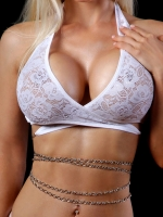 BodyZone Lace Savage Top with Chains 1630BL