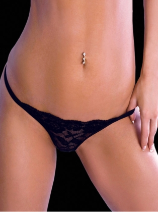 Body Zone Crotchless Lace Thong UN005
