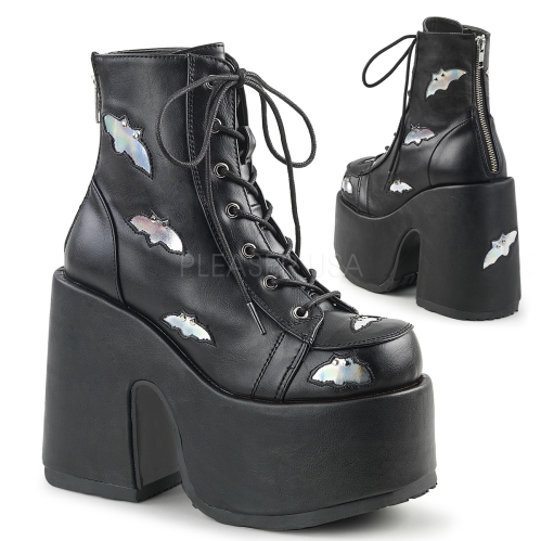 Holographic black camel boot