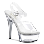 Exotic Dancer Clear Ankle Strap Shoes