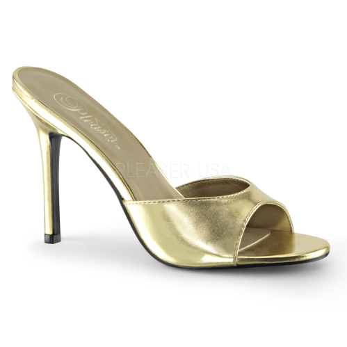 metallic gold bridesmaids shoes