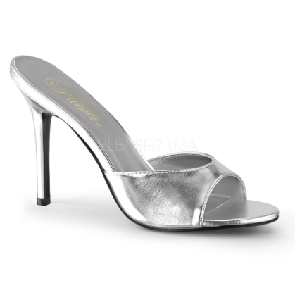 metallic silver wedding shoes