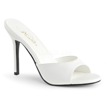 matte white wedding shoes
