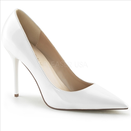 white patent women's shoes