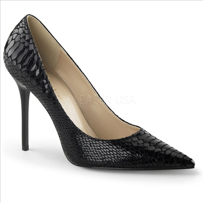 snake print leather women's shoes