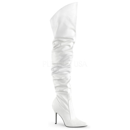white scrunch boot for women