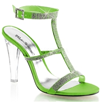 high heel apple green shoes