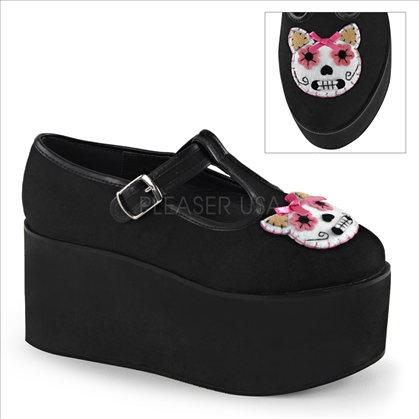 kitty cat felt embroidery shoes