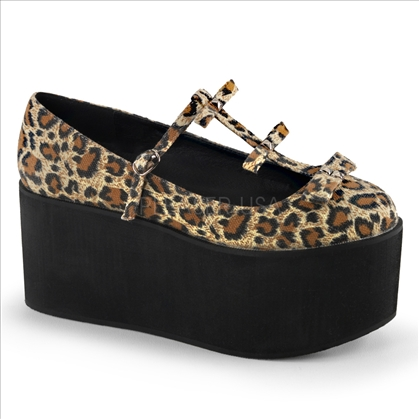 leopard print platform shoes