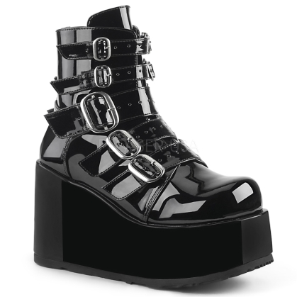 Domonia CONCORD-57 Buckle Straps Ankle Gothic Boot