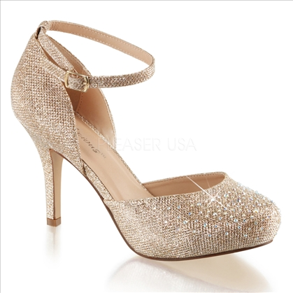 nude d'orsay wedding shoes