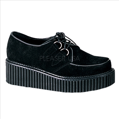 creeper black suede shoes