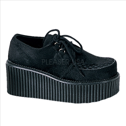 black fur creeper shoes
