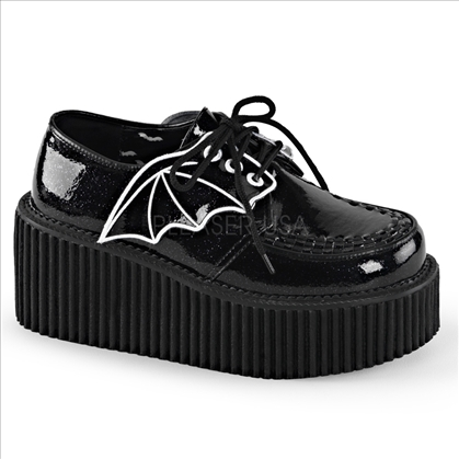 embroidered bat wing creeper shoes