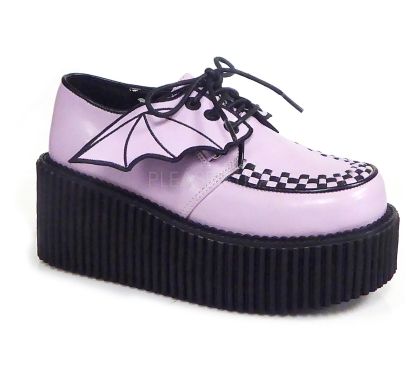 baby pink platform creeper shoes