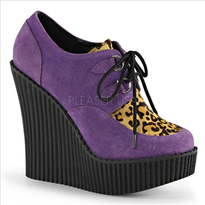 purple suede leopard print shoes